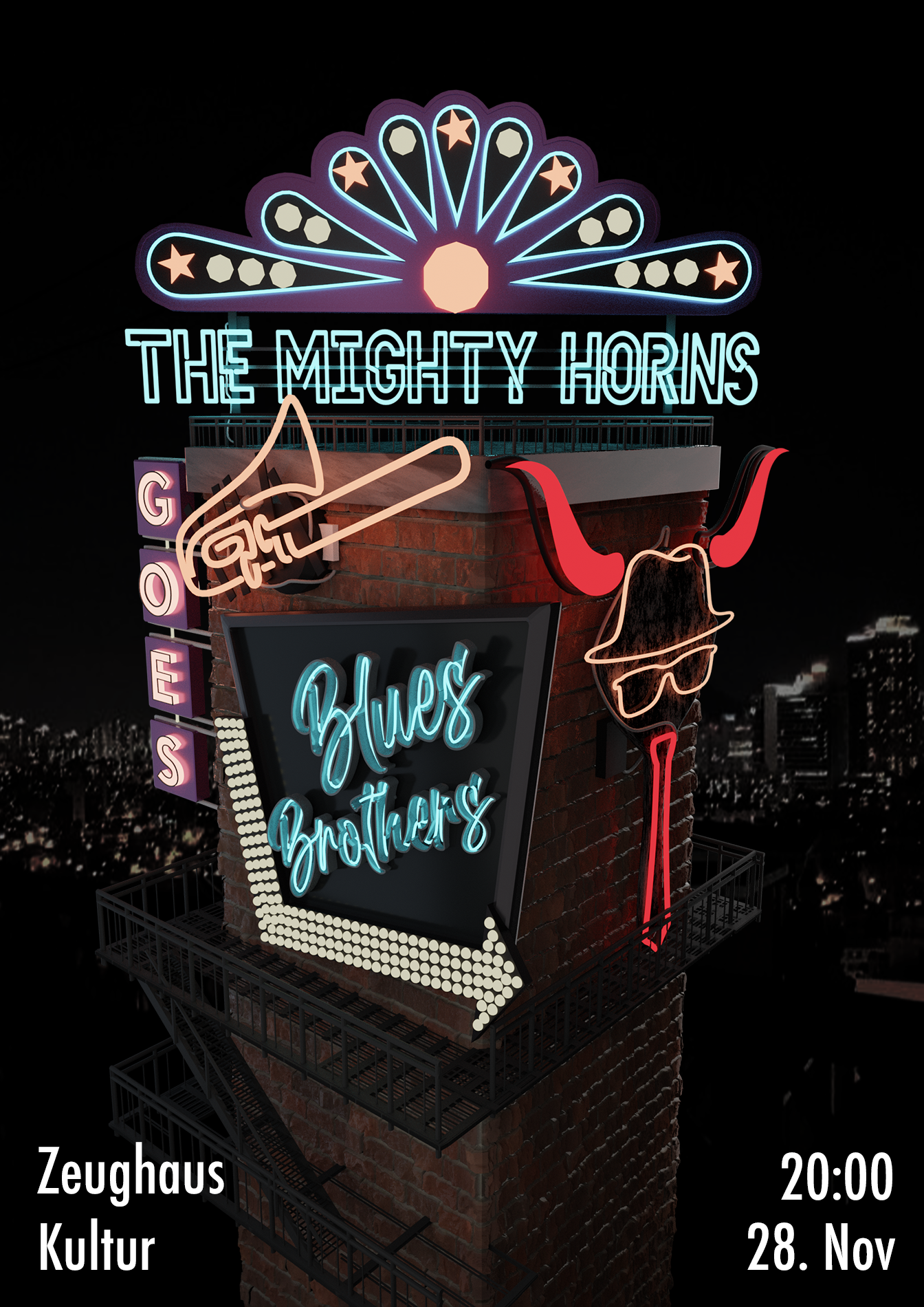 Abgesagt-The Mighty Horns goes Blues Brothers